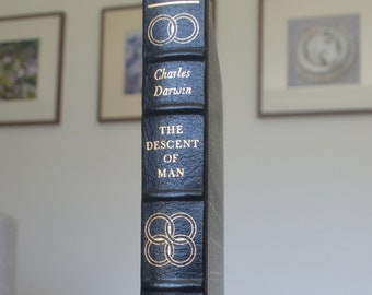 Vintage Leather Book, The Descent of Man, Charles Darwin, The Easton Press, 1979