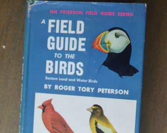 Vintage Birding/Nature Guide, A Field Guide to the Birds, by Roger Tory Peterson, 1947