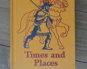 Vintage Children's TextBook/Reader, Time and Place, by William S. Gray and May Hill Arbuthnot, The 1947-48 Edition, Basic Readers 4