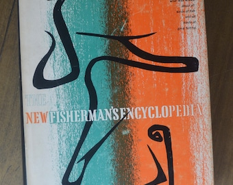 Midcentury Coffee Table Book About Fishing -- The New Fisherman's Encyclopedia, Stackpole Books, 1964, Ira N. Gabrielson, ed