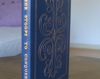 Vintage Leather Book, She Stoops to Conquer, Or the Mistakes of the Night, by Oliver Goldsmith, The Easton Press, 1978