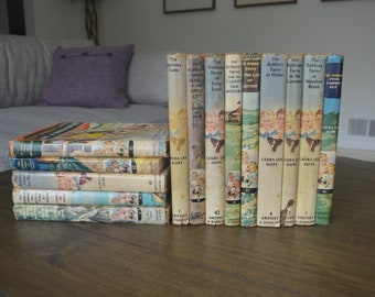 Vintage Children's Books, by Laura Lee Hope, Dust Jackets, 1940's, 1950s, Now Under Mylar Covers