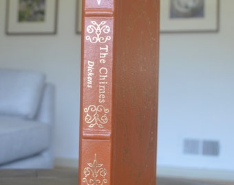 Vintage Leather Book, The Chimes, by Charles Dickens, The Easton Press, 1991