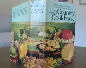 Vintage Cookbook, Farm Journal's Country Cookbook, 1972 - Great with dust jacket or without. Teal cloth cover for farmhouse kitchen
