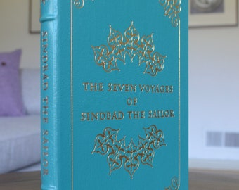 Vintage Leather Book, The Seven Voyages of Sindbad the Sailor, The Easton Press, 1977