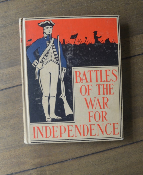 Antique Children S History Book Battles Of The War For Etsy