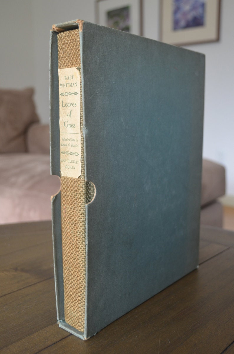 Vintage Boxed edition of Walt Whitman Leaves of Grass image 0