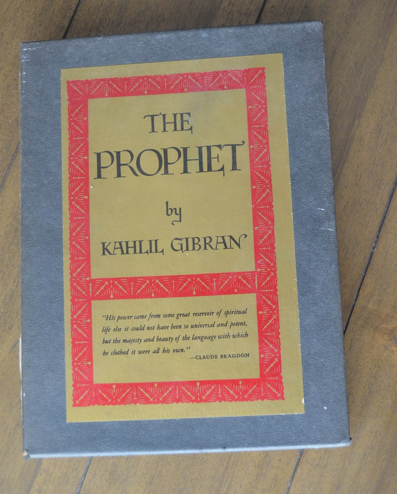 The Prophet by Kahlil Gibran, 1971, 15th edition, with slipcase