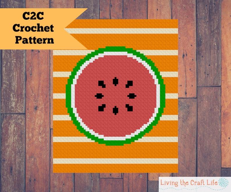 Watermelon C2C Blanket  Corner to Corner  Graphghan  image 0