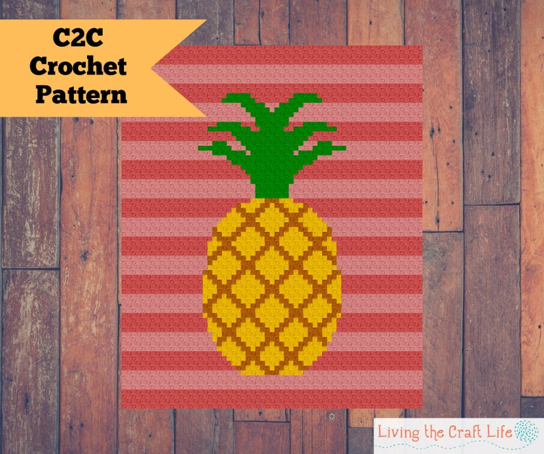 Pineapple C2C Blanket  Corner to Corner  Written Crochet image 0