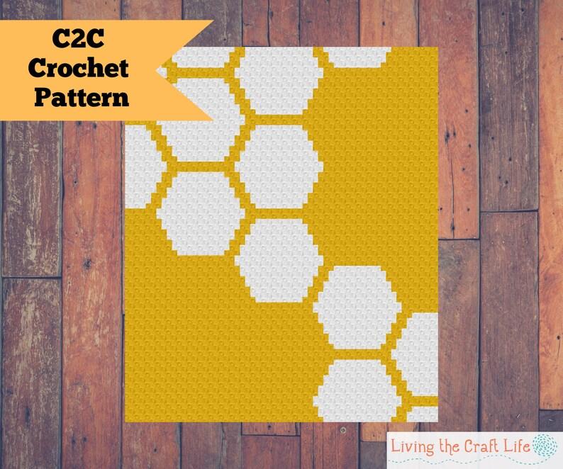 Honeycomb C2C Blanket  Corner to Corner  Graphghan  Written image 0