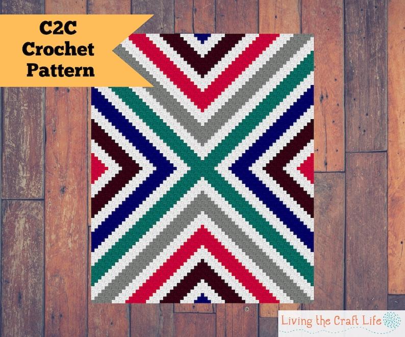 Crossroads C2C Blanket  Corner to Corner  Graphghan  image 0