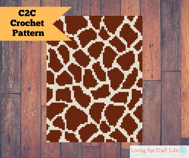 Giraffe Print C2C Blanket  Corner to Corner  Graphghan  image 0