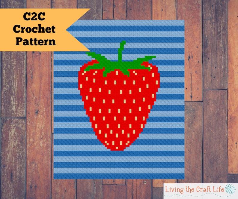 Strawberry C2C Blanket  Corner to Corner  Written Crochet image 0