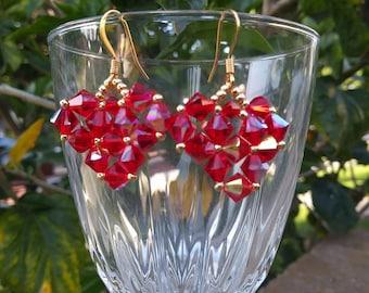 Big Crystal Heart Earrings