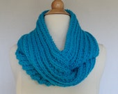 Infinity Scarf Cowl Neck Warmer Handmade Knitted Teal Red Lavender or Pink Gift Idea Cozy Warm Winter