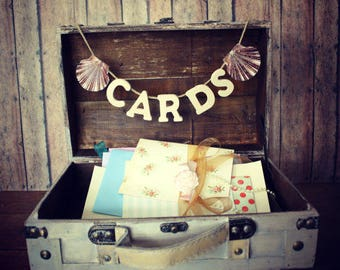 Wedding trunk-distressed-wood-trunk-suitcase-rustic-vintage inspired-card holder-card box-wedding-decoration-country-woodland-large-wood-Mrs