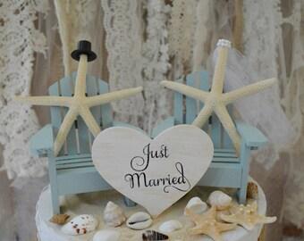 Starfish wedding cake topper | Etsy