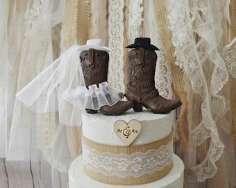 bdf82d008f6 SALE western wedding cake topper cowboy cowgirl boots cake topper western  bride groom cowboy hat Mr  Mrs wedding rustic country decorations