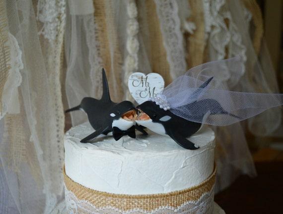Orca Killer Whale Sea World Themed Wedding Cake Topper Beach Etsy