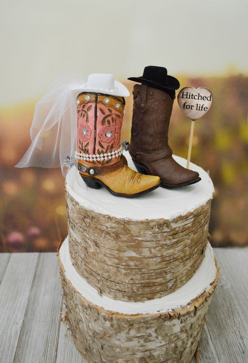 Boot Wedding Cake Topper Western Wedding Barn Country Bride Etsy