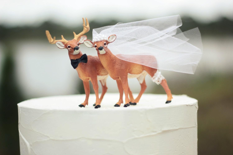 Deer wedding cake topper-Hunting wedding cake topper-Deer
