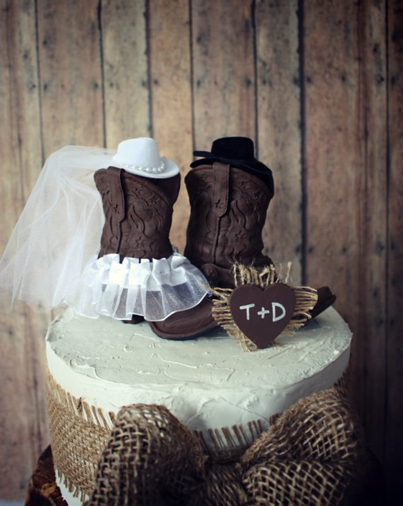 125efe8252b Cowboy boots-cowgirl boots-wedding cake topper-western | Etsy