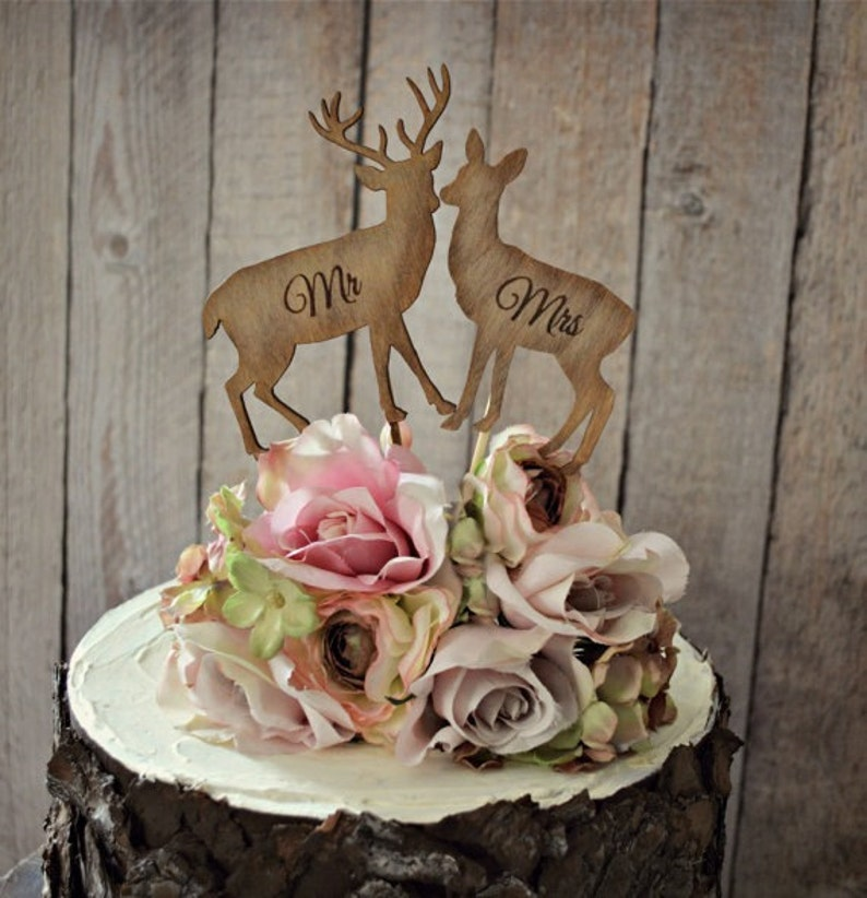 c61090e330616 Deer-bride-groom-wedding-cake | Etsy