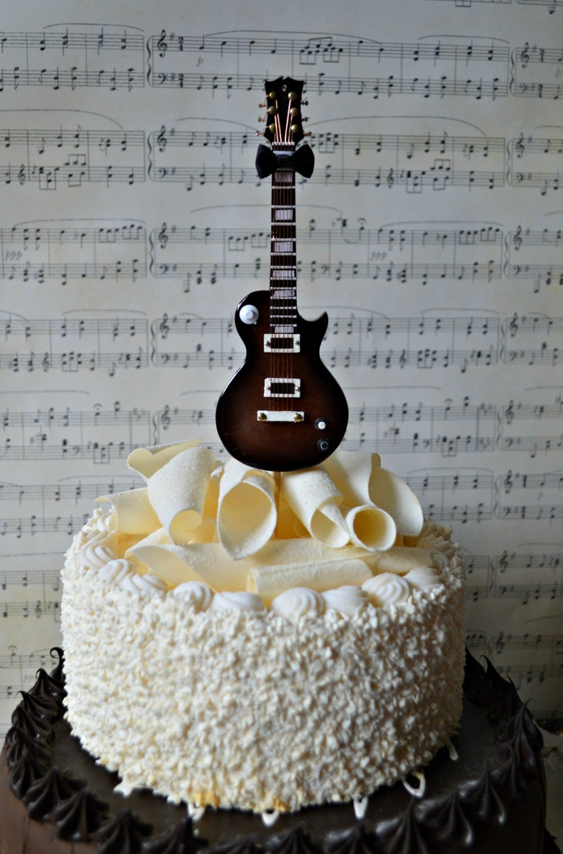 Electric Guitar Wedding Birthday Grooms Cake