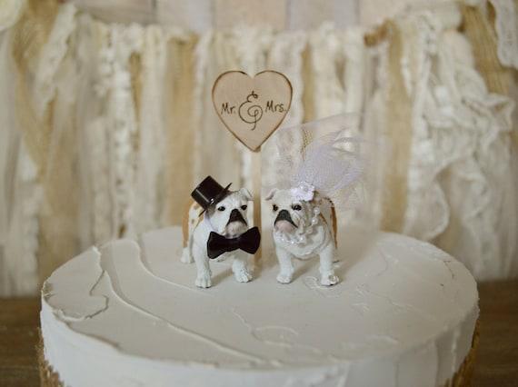 Bulldog wedding cake topper bull dogs University of ...