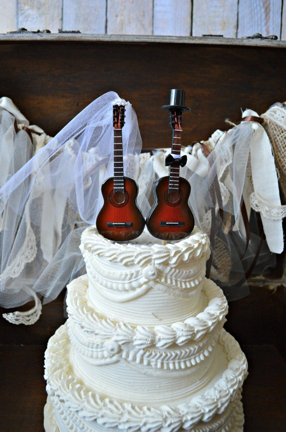 Music Guitar Wedding Cake Topper Instrument Music Etsy