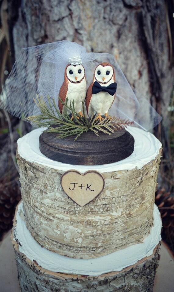 Owl Wedding Cake Etsy