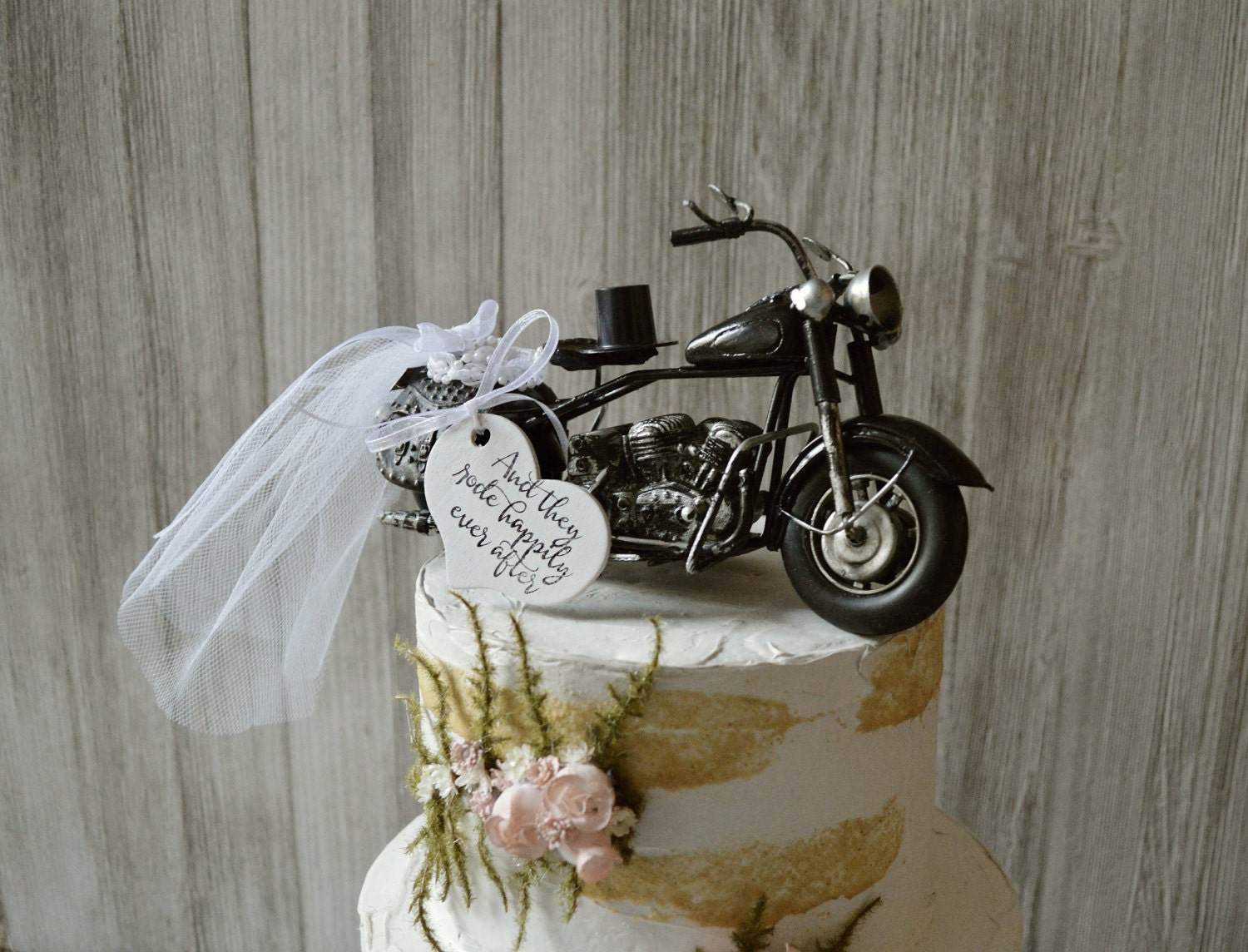 Motorcycle Wedding Cake Topper Motorcycle Topper Harley Etsy