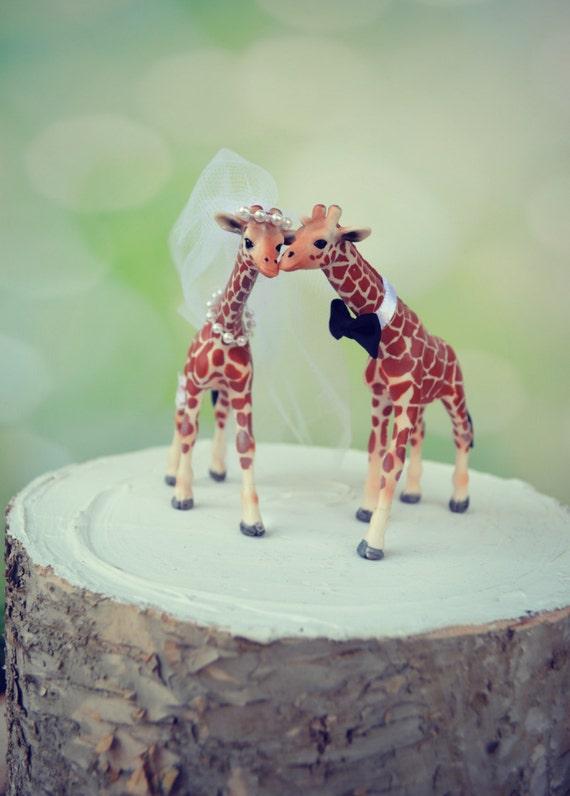 Giraffe Woodlands Wedding Cake Topper Giraffe Wedding Just Etsy