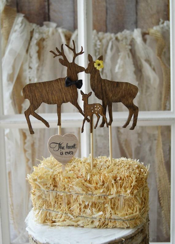 Deer Hunting Themed Baby Shower Wedding Cake Topper Gender Etsy