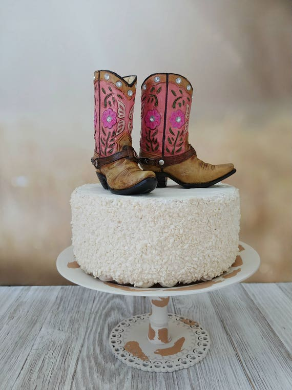 Incredible Pink Cowgirl Boot Cake Topper Birthday Cake Topper Bride To Be Etsy Funny Birthday Cards Online Barepcheapnameinfo
