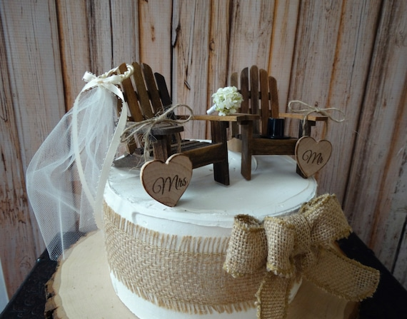 Western Rustic Wedding Adirondack Chairs Miniature Country