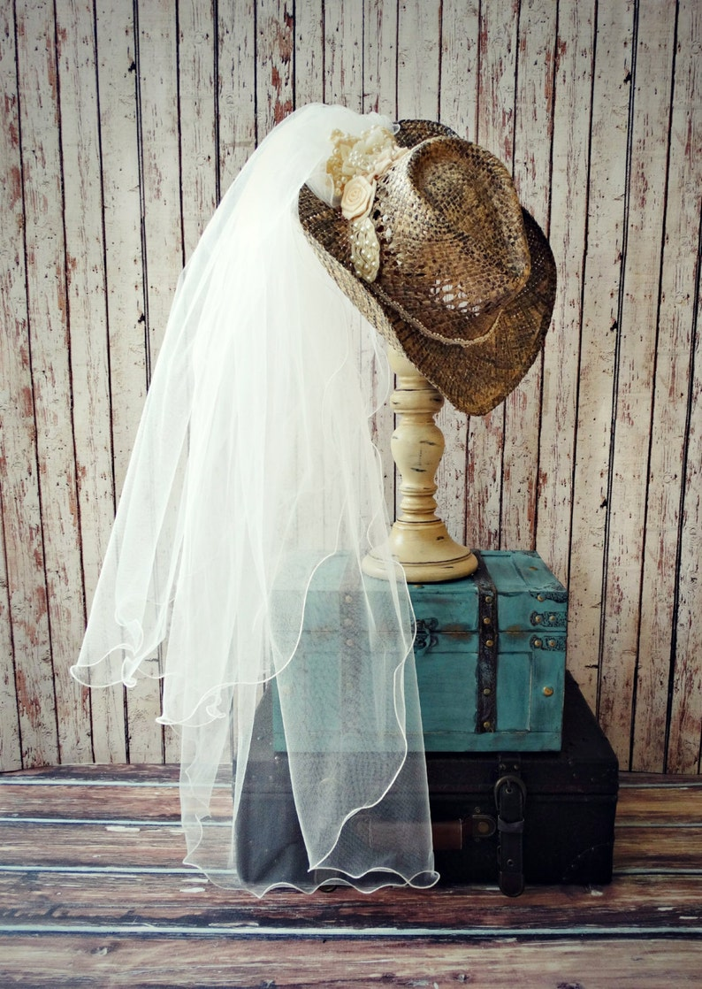 c5989ab5508 Cowgirl hat western wedding dress accessories country bride