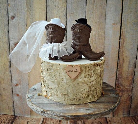 Cowboy Boots Wedding Cake Topper Texas Country Wedding