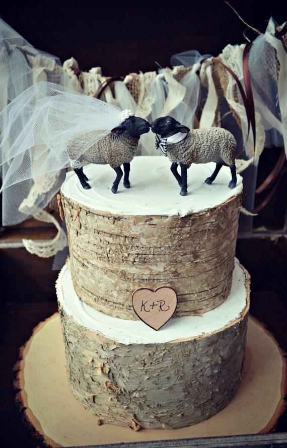 Black Sheep Lamb Farm Animal Country Themed Wedding Cake Etsy