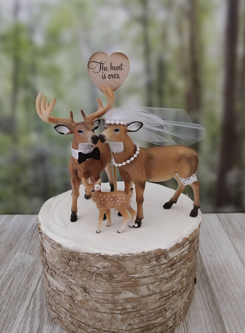 Camouflage Wedding Family Doe Buck Fawn Mr And Etsy