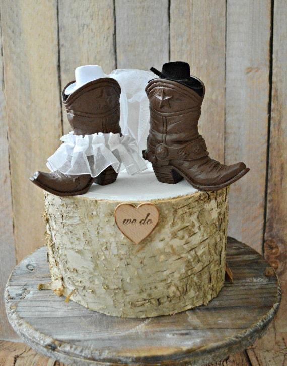 Country Western Cowboy Mariage Gâteau De Mariage Mariage Topper Western Cowboy Et Cowgirl Bottes Topper Bottes De Mariage Topper Rustique Mariage