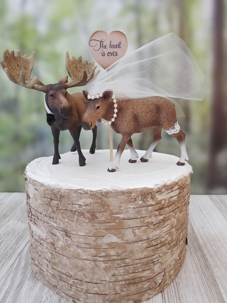 Moose wedding cake topper-Alaskan Moose themed rack bull ...