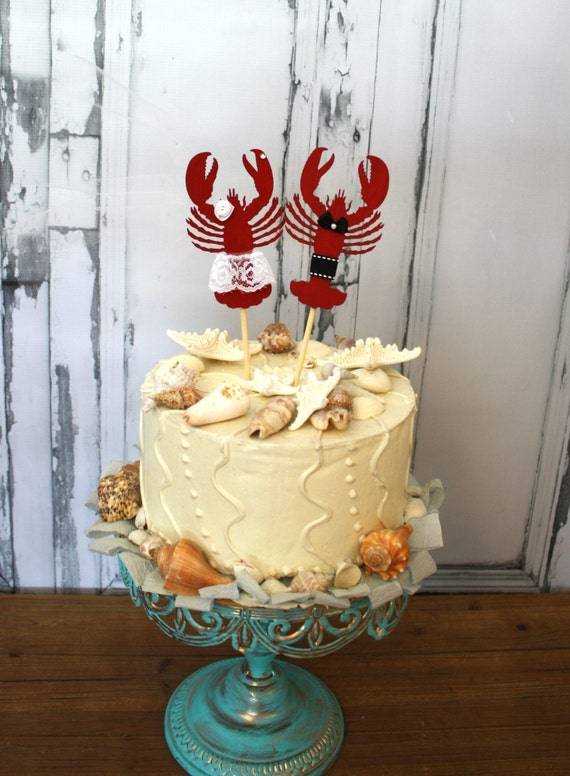 Lobster wedding cake topper-lobster-wedding cake | Etsy