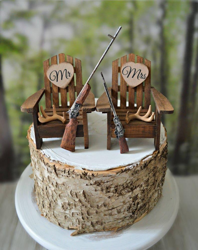 Hunting Themed Wedding Cake Topper Bride Groom Hunters