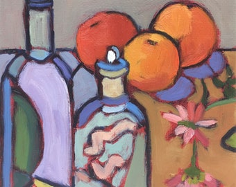 Still Life Expressionism Stretched Canvas Beautiful Rendered Impressions Original Painting A Heart for Daisies