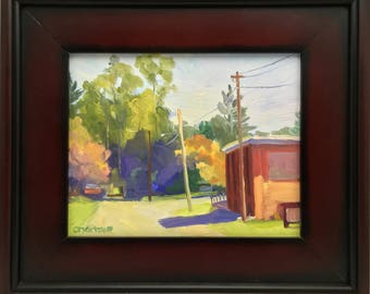 Plein Air Small Landscape Oil Painting Framed Art