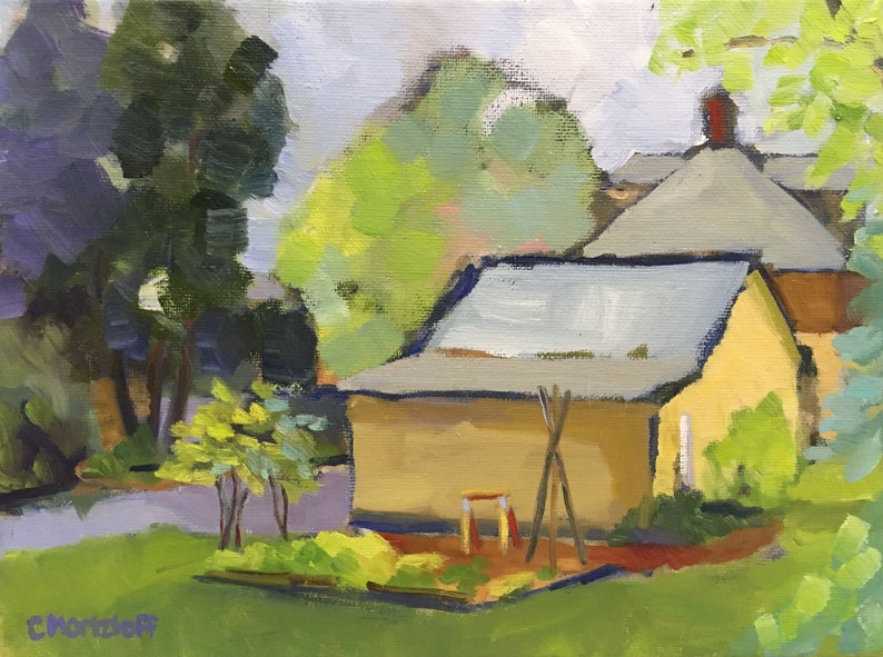 In the Garden Original Landscape Painting on Canvas Fine image 0