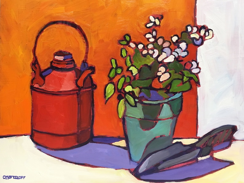 Paintings on Canvas Rendered Impressions Still Life image 0
