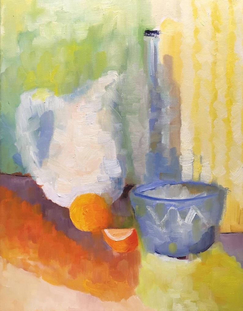 The Vanishing Still Life Original Art Oil Painting on image 0